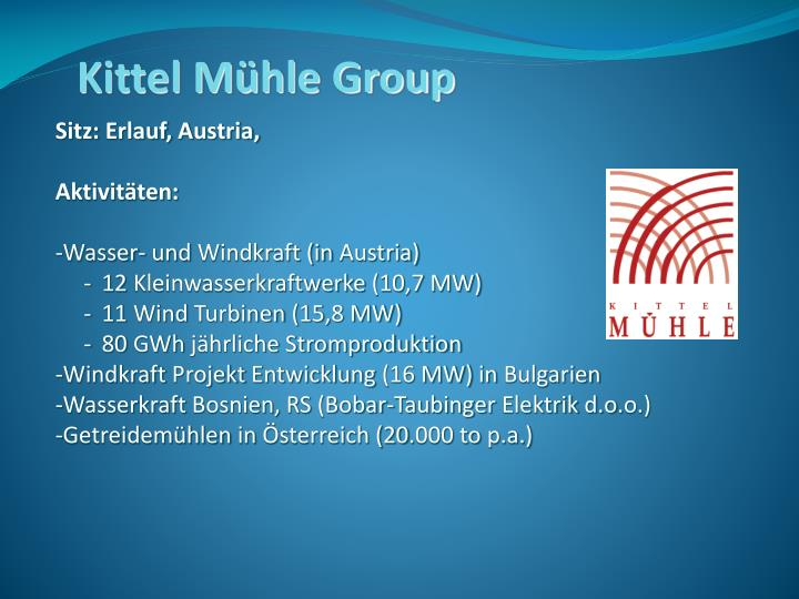 Kittel Mühle Group