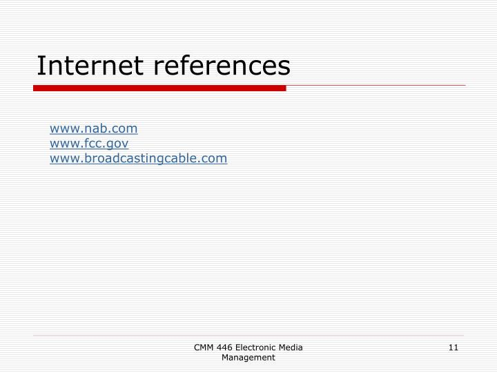 Internet references