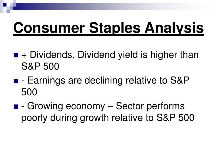 Consumer Staples Analysis