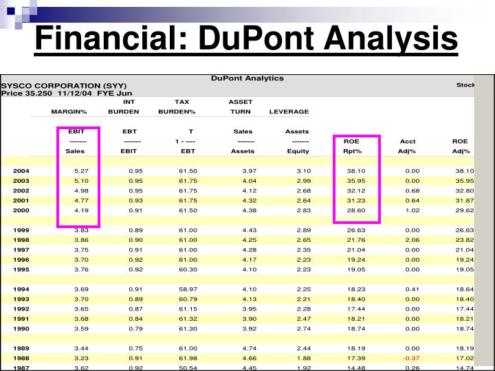 Financial: DuPont Analysis