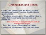 competition and ethics