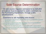 sole source determination