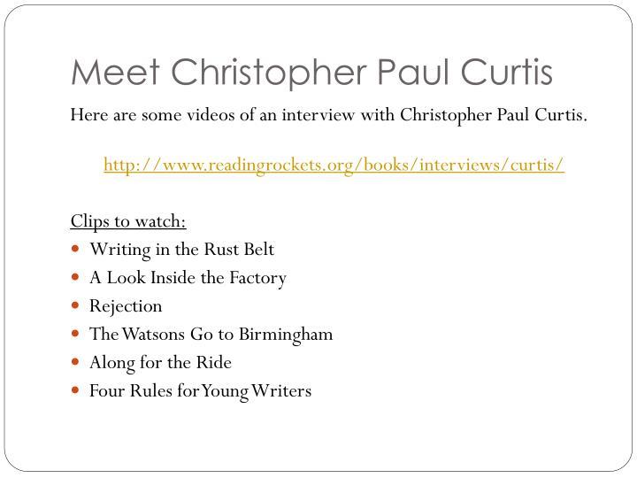 Meet Christopher Paul Curtis