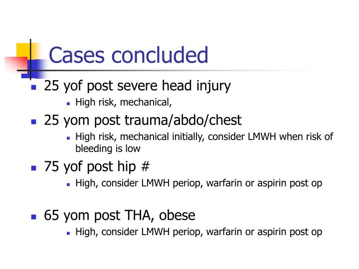 Cases concluded