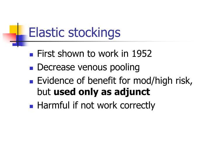 Elastic stockings