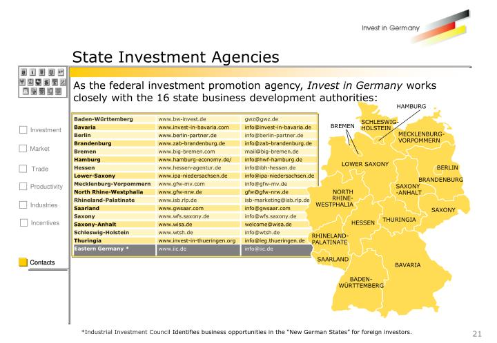 State Investment Agencies