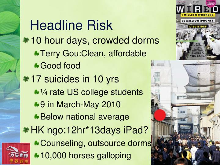 Headline Risk