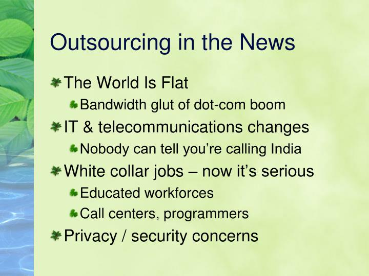 Outsourcing in the News