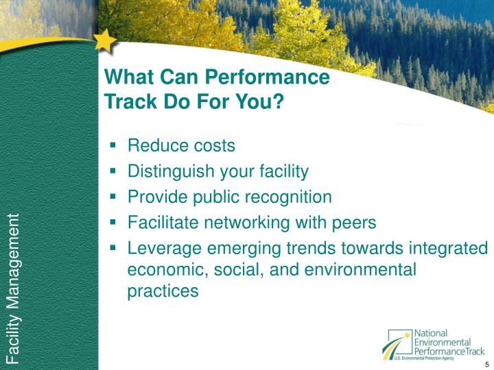 What Can Performance Track Do For You?