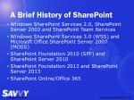 a brief history of sharepoint