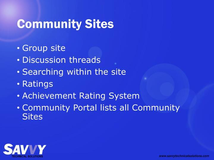 Community Sites