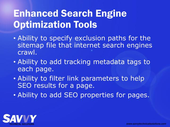 Enhanced Search Engine Optimization Tools