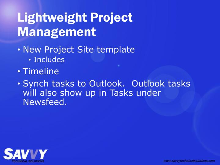 Lightweight Project Management