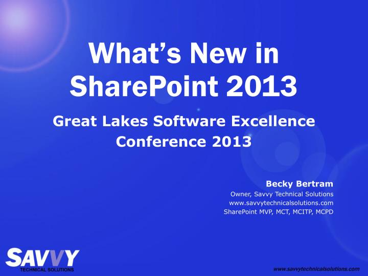 what s new in sharepoint 2013