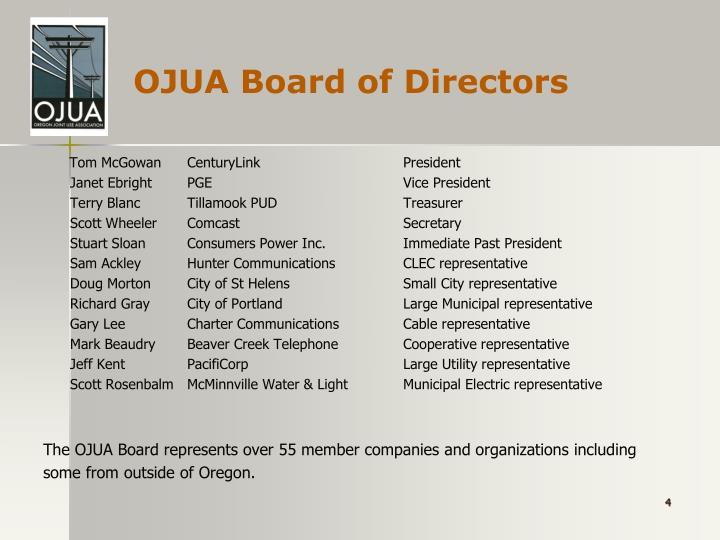 OJUA Board of Directors