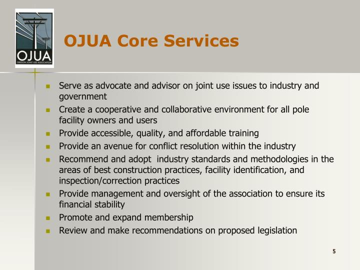OJUA Core Services