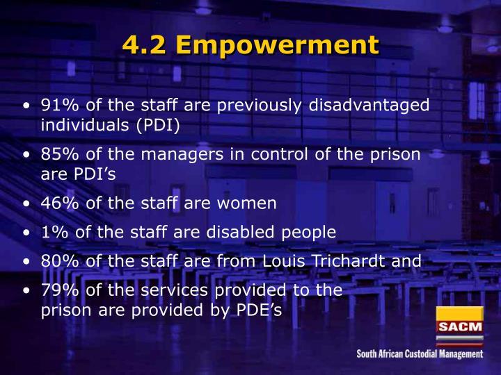 4.2 Empowerment