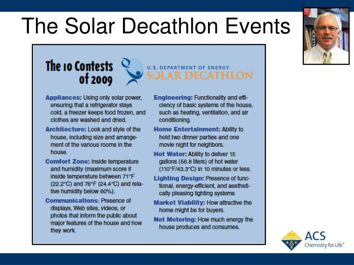 The Solar Decathlon Events
