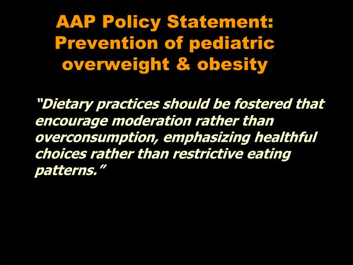 AAP Policy Statement: