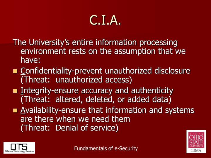C.I.A.