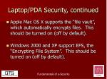 laptop pda security continued