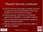 physical security continued