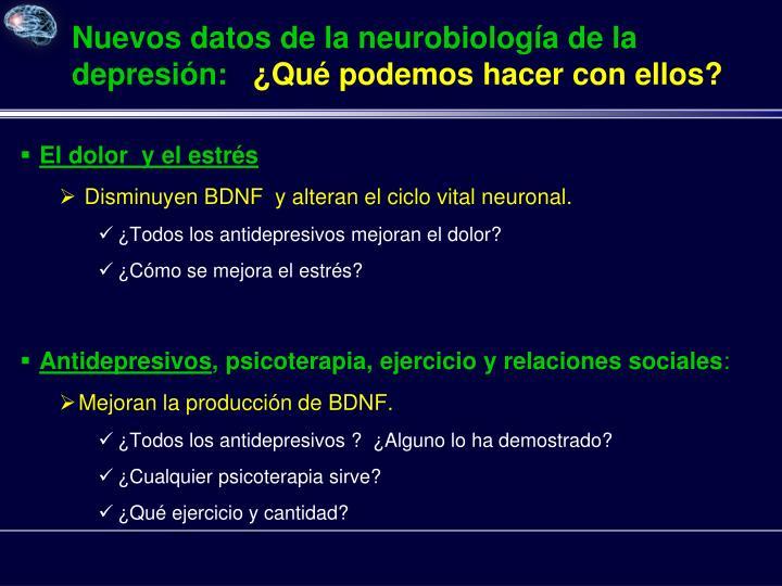 Nuevos datos de la neurobiología de la depresión: