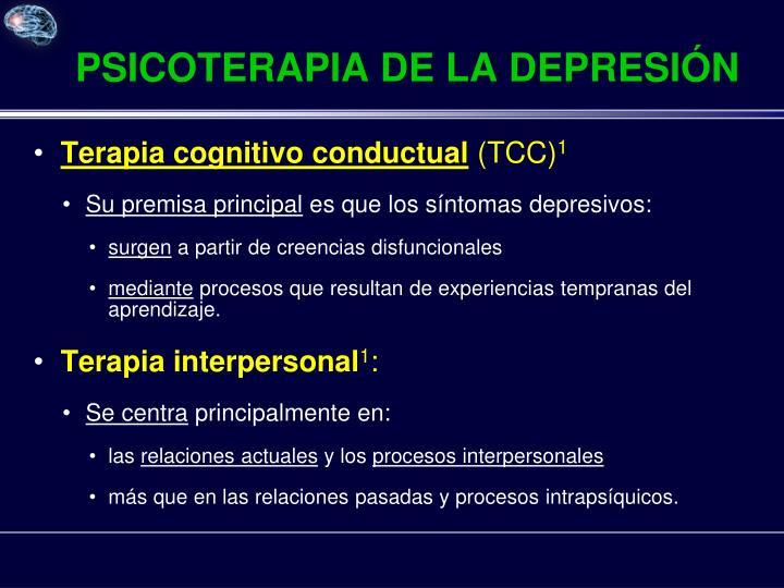 PSICOTERAPIA DE LA DEPRESIÓN