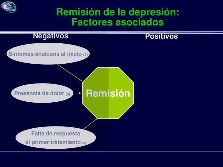 Remisión de la depresión: