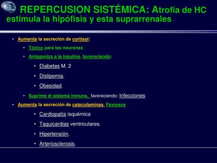 REPERCUSION SISTÉMICA: A