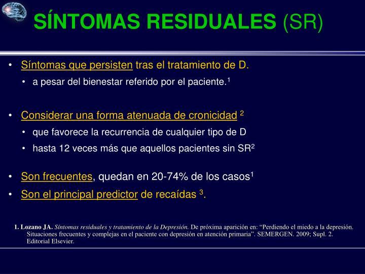 SÍNTOMAS RESIDUALES