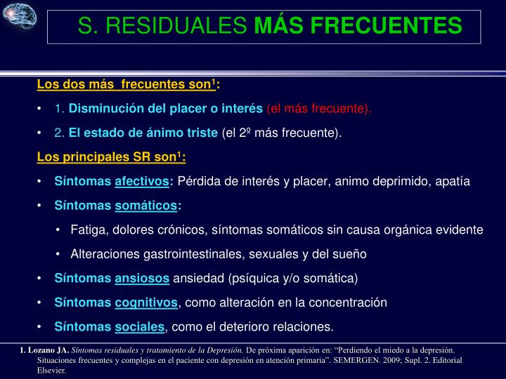 S. RESIDUALES