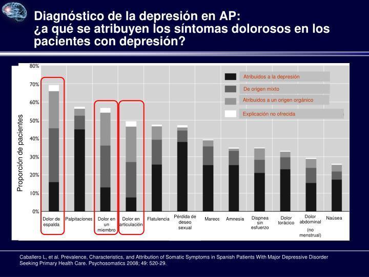 Diagnóstico de la depresión en AP: