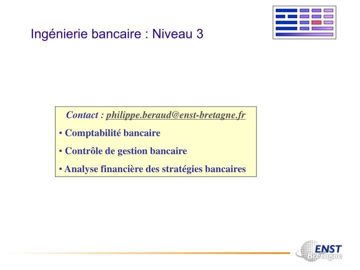 Ingénierie bancaire : Niveau 3