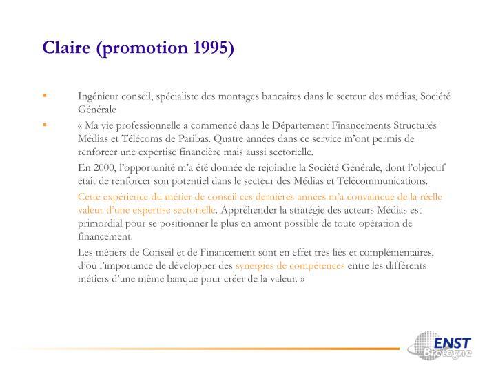 Claire (promotion 1995)