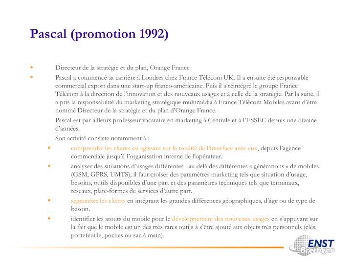 Pascal (promotion 1992)