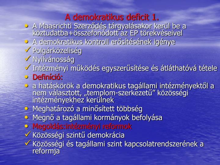 A demokratikus deficit 1.