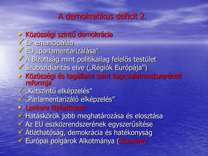 A demokratikus deficit 2.