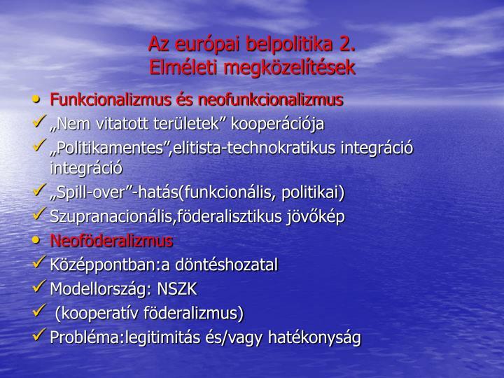 Az európai belpolitika 2.