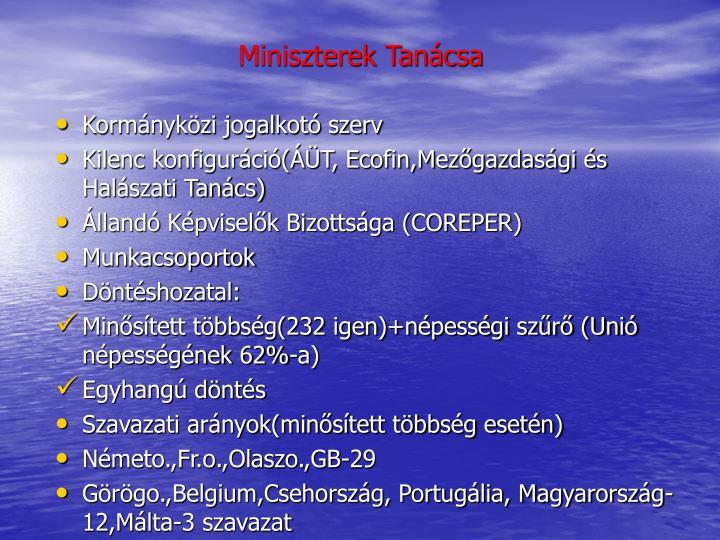 Miniszterek Tanácsa