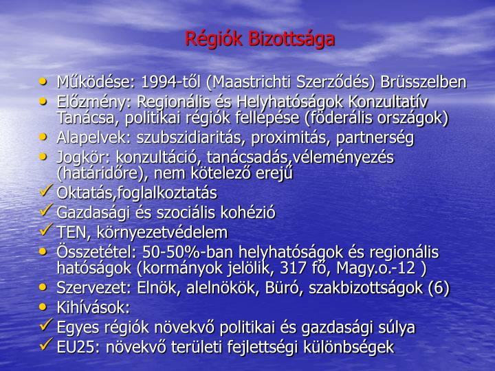 Régiók Bizottsága