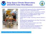 deep space climate observatory dscovr solar wind mission