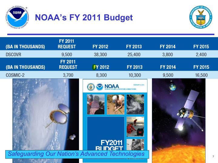 NOAA's FY 2011 Budget