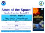 state of the space