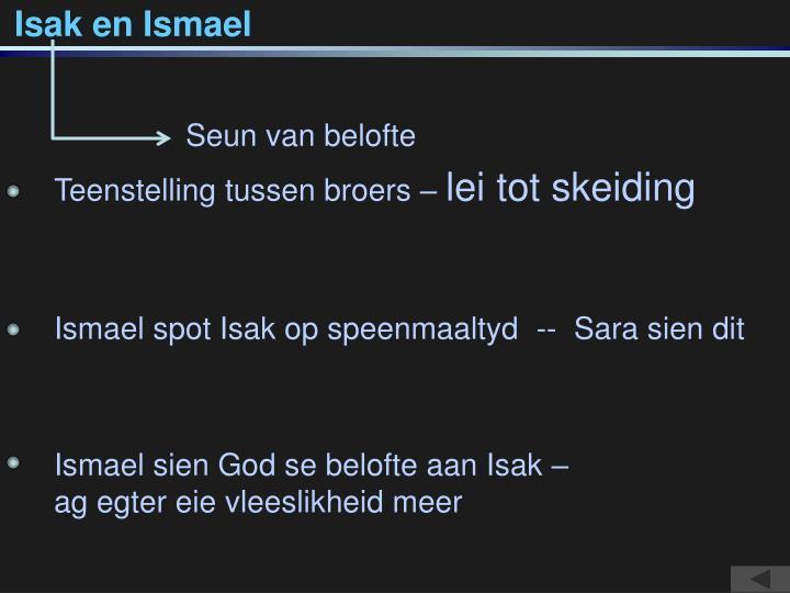Isak en Ismael