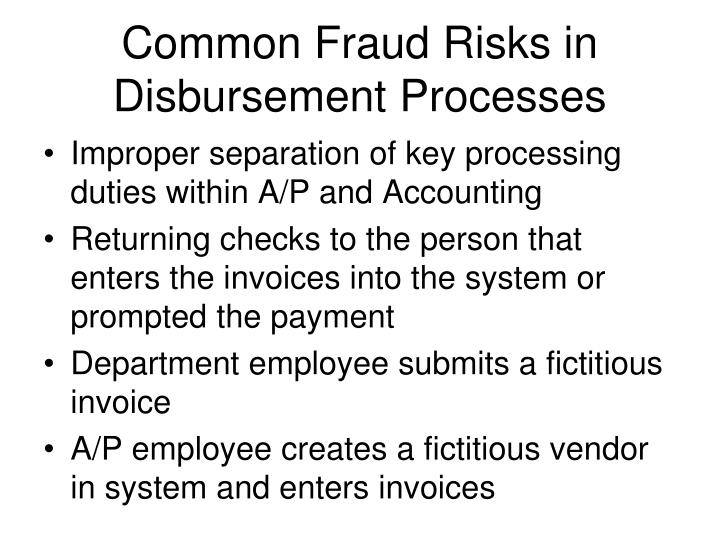 Common Fraud Risks in Disbursement Processes