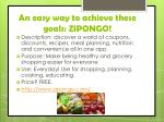 an easy way to achieve these goals zipongo