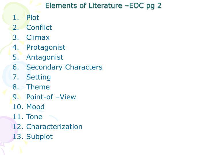 Elements of Literature –EOC pg 2