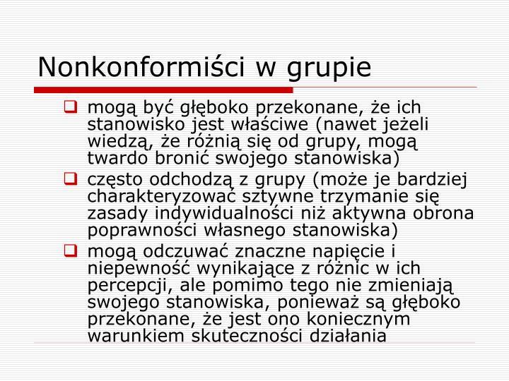 Nonkonformiści w grupie