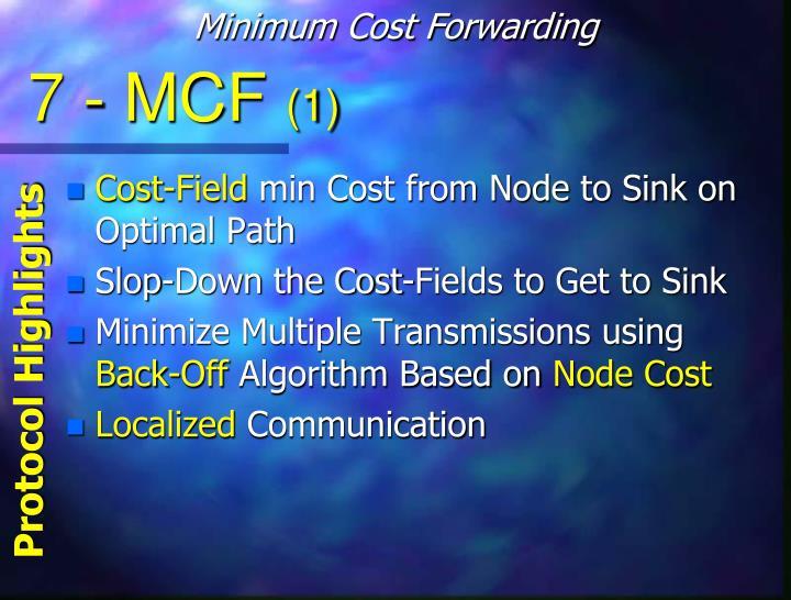 Minimum Cost Forwarding